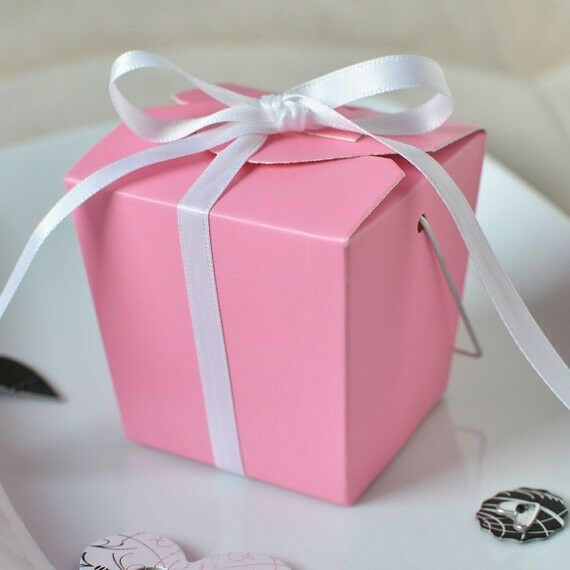 Party Favor Chinese Take Out Boxes : Pretty pink chinese mini take out boxes wedding party