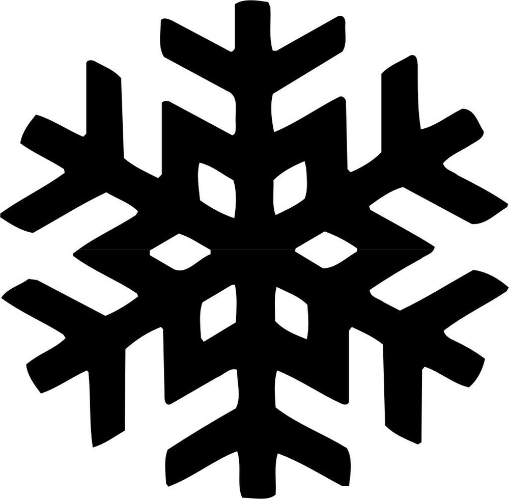 snowflake symbol vinyl decal sticker car window wall