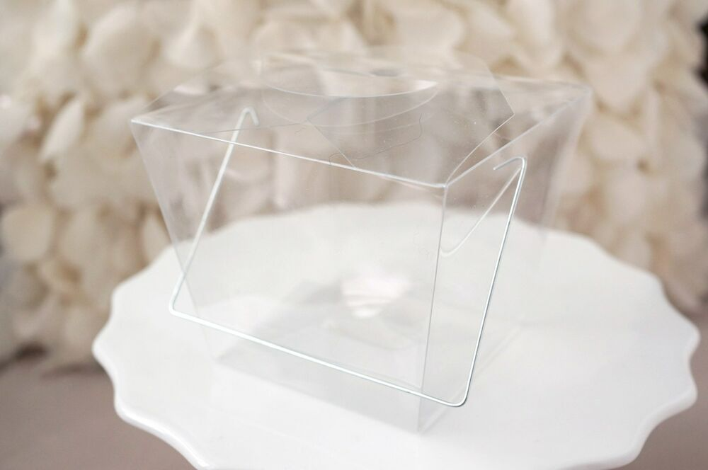 Clear Chinese Take Out Favor Boxes : Clear chinese asian small take out boxes favor cupcake