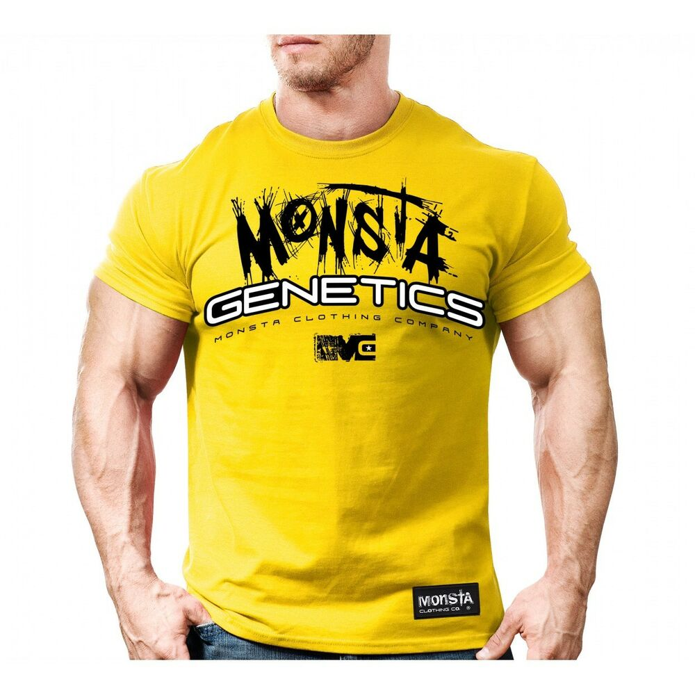 Monsta clothing mens graphic t shirt bodybuilding wear for Fitness shirts for men