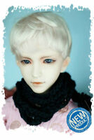 """7-8"""" Blonde Synthetic Mohair 1/4 BJD Doll SD Short Wig"""