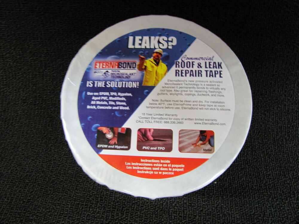 Eternabond Rv Rubber Roof Repair Tape 4 Quot X 50 White Quot Best