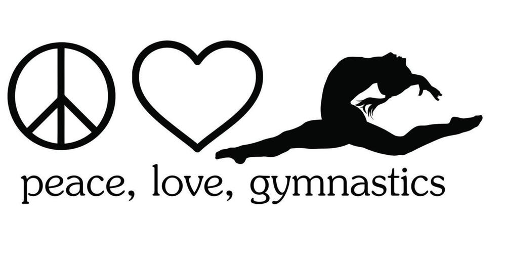 Peace Love Gymnastics Sticker