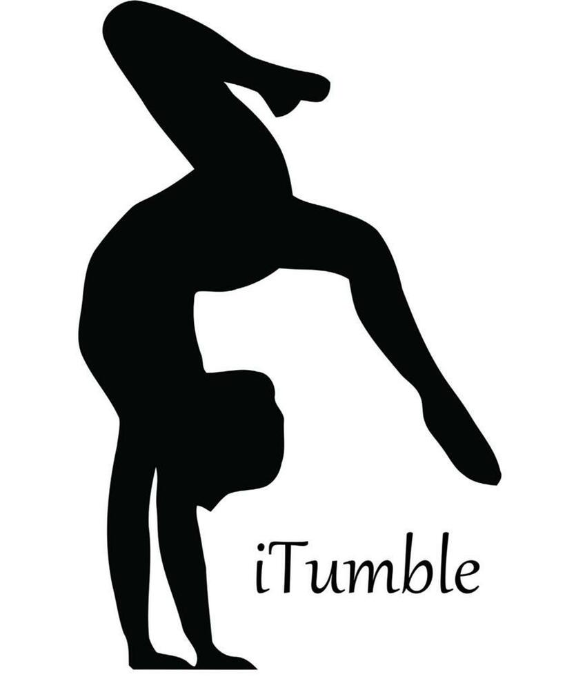 Large Gymnastics Sticker Itumble Girls Vinyl Wall Decal