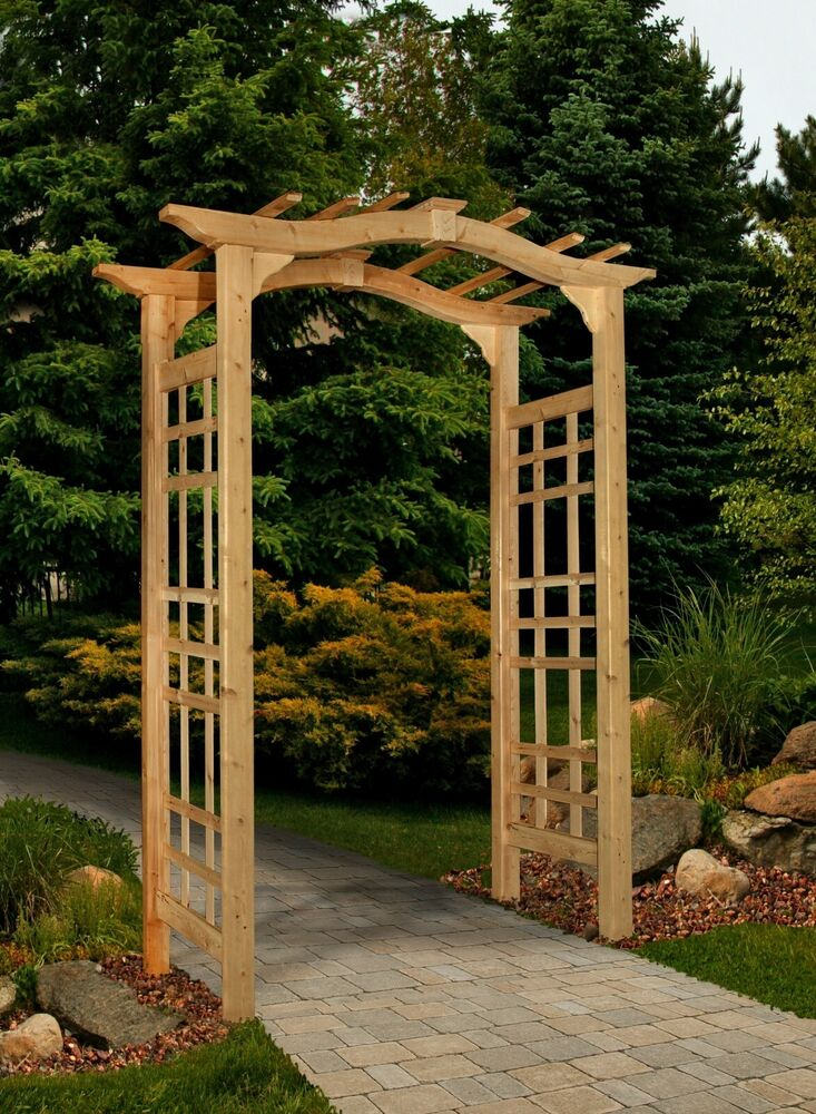 New England Arbors Decorative Westwood Cedar Garden Patio