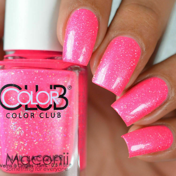 Who Sells Color Club Nail Polish: Shimmery Pink Creme Glitter Neon