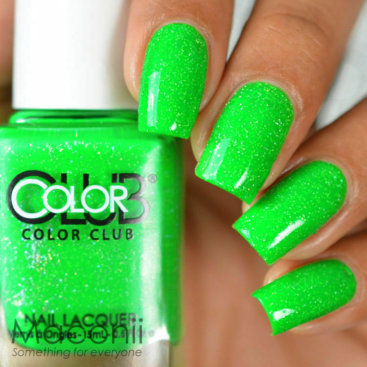 Color Club - Glitter Envy - Neon Bright Green Creme Shimmery Glitter Nail Polish | EBay