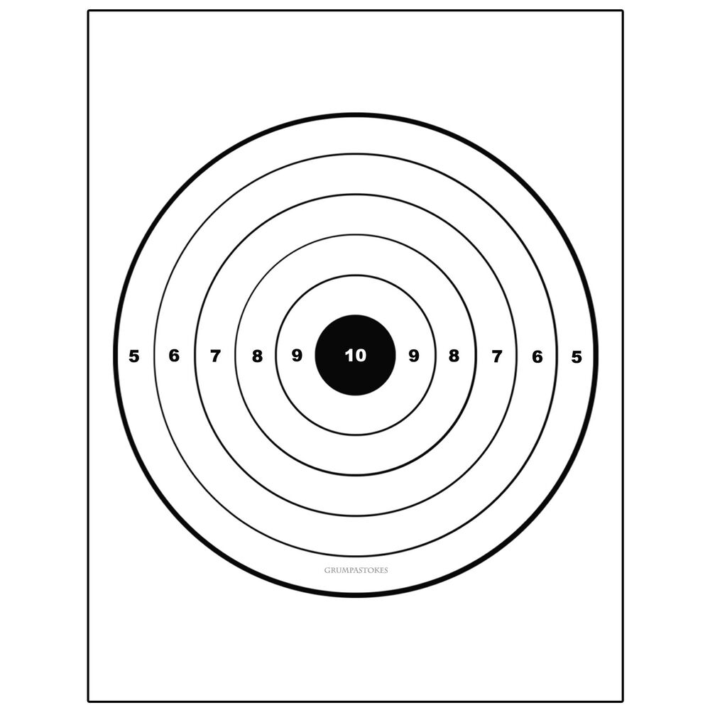 The gallery for --> Printable Shooting Targets 8.5 X 11