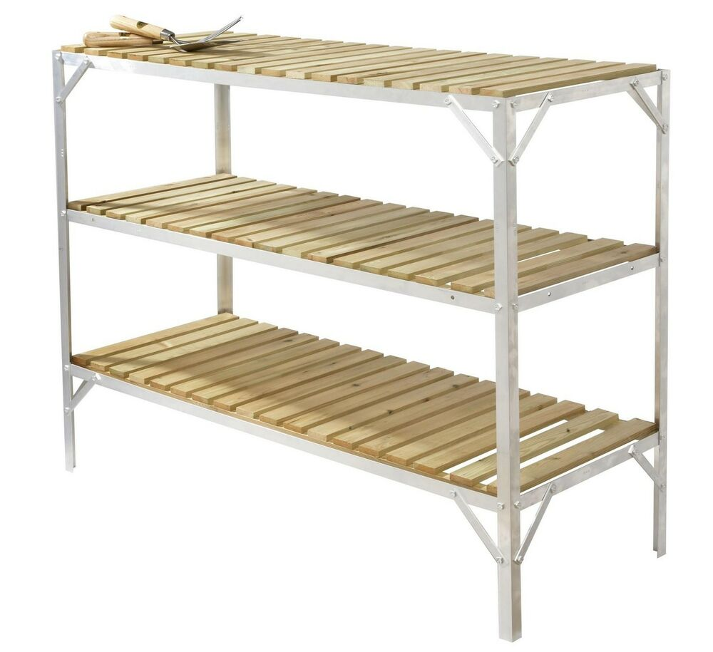 Greenhouse Staging Bench Wooden Three Tier 18 Wide X 4ft Long Ebay