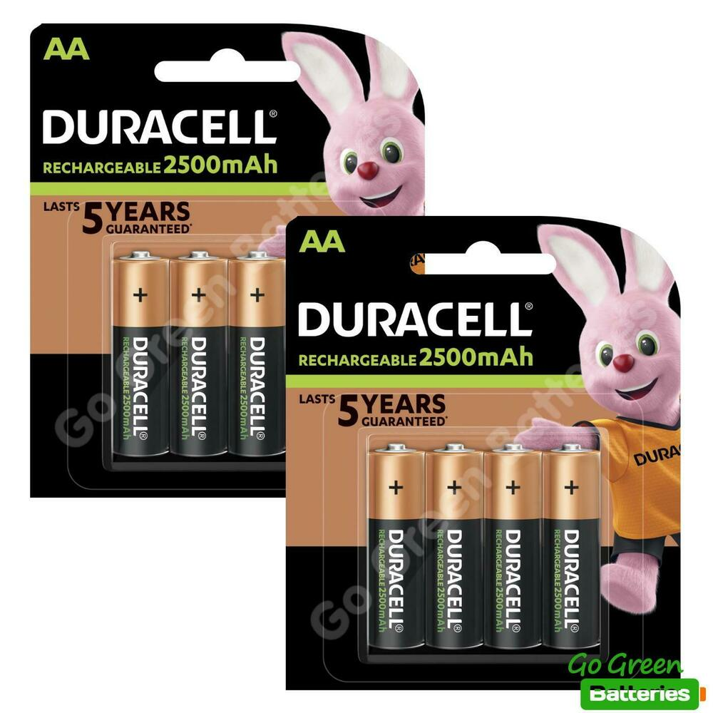 8 x duracell aa 2500 mah rechargeable ultra batteries. Black Bedroom Furniture Sets. Home Design Ideas