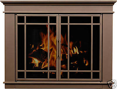 Residential Retreat Glass Fireplace Door Hamilton Bronze