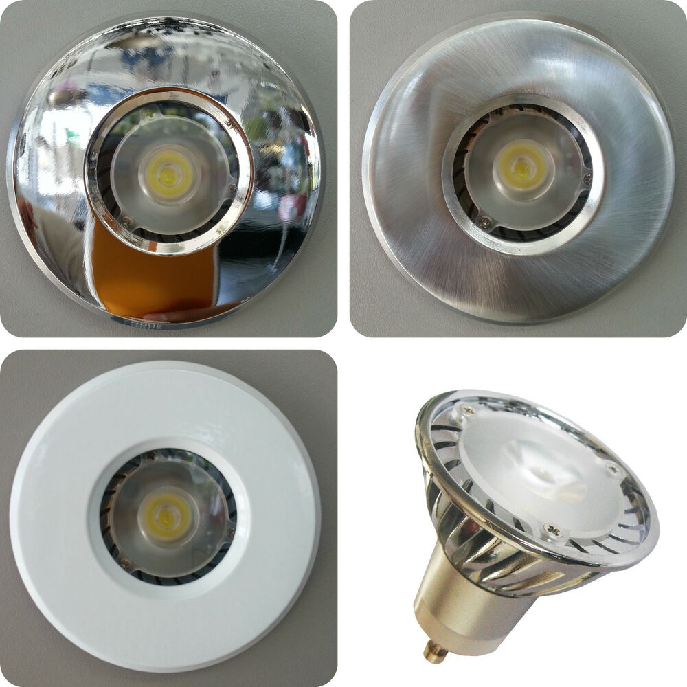 3w Led Cool White Bathroom Shower Recessed Downlight Gu10 Ip65 Waterproof Zone 1 Ebay