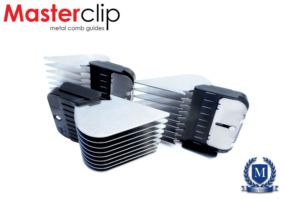 Long cut masterclip metal comb guides fits oster andis for Andis dog clipper blade guide