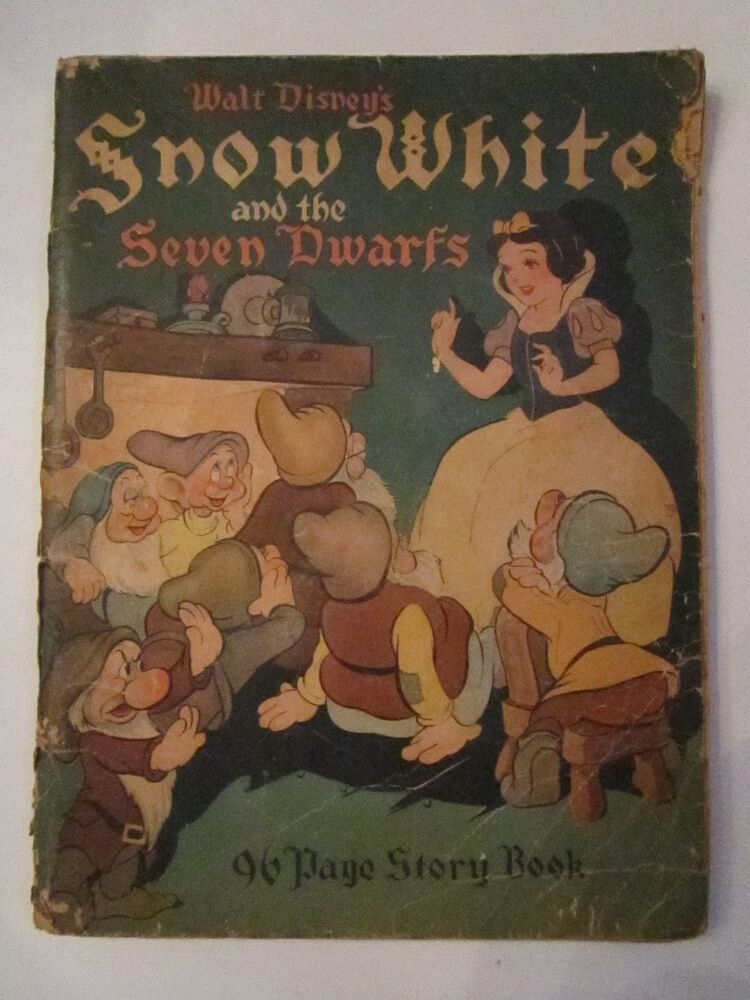 1938 SNOW WHITE AND THE SEVEN DWARFS - WALT DISNEY - TUB ...
