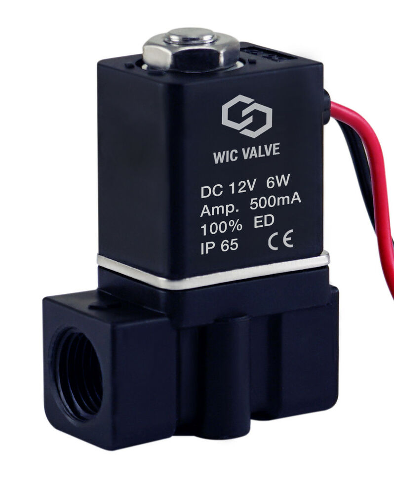1 4 Quot Inch Plastic Electric Air Gas Water Solenoid Valve