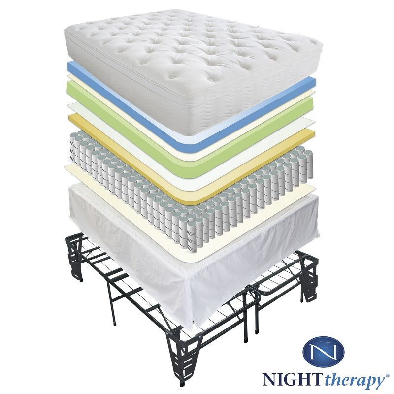new 12 quot euro box tight top spring mattress bed frame set 19185 | s l1000