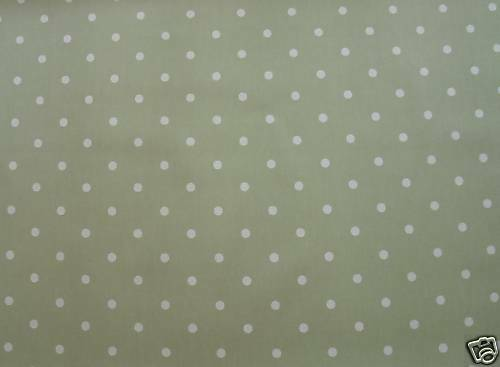 Clarke And Clarke Sage Green Dotty Oilcloth Pvc Fabric