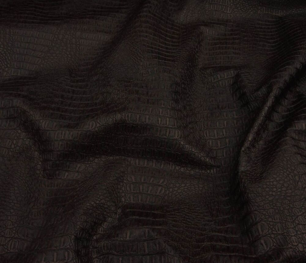 vinyl faux leather brown gator upholstery fabric by the yard 55 wide ebay. Black Bedroom Furniture Sets. Home Design Ideas