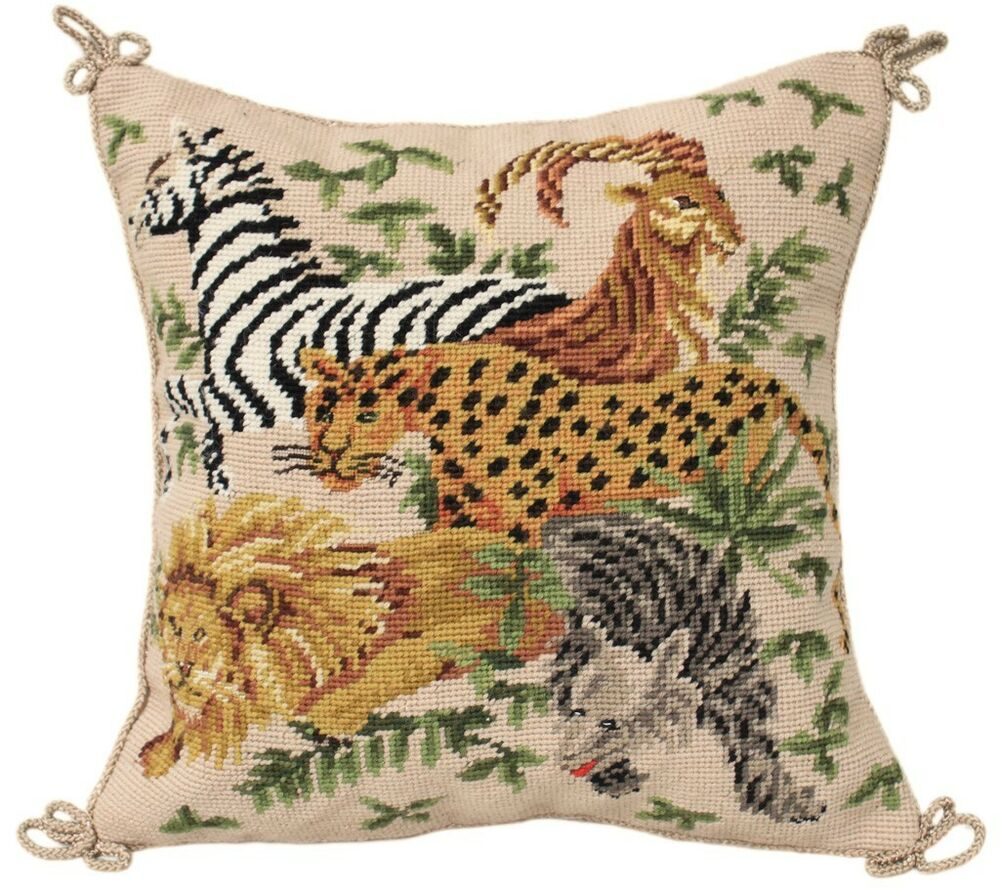 Animal Print Needlepoint Pillows : 14