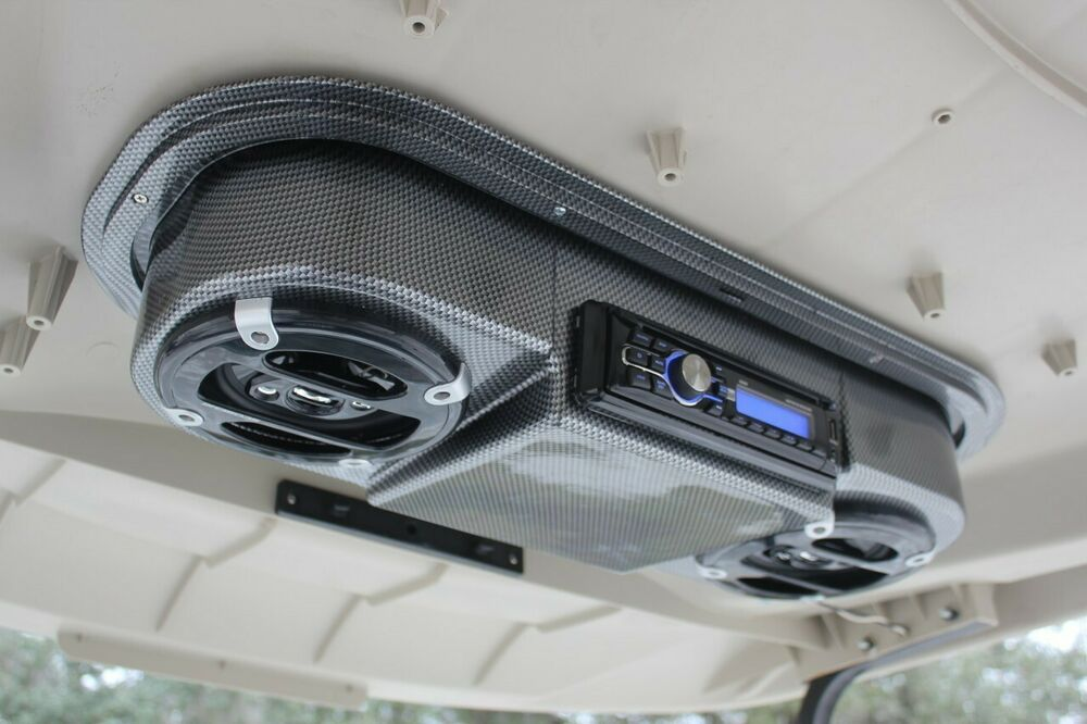 Golf Cart Carbon Fiber Radio Console Universal Radio Not