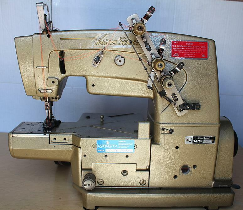 union special 34700 kf16 2 needle 3 thread coverstitch industrial sewing machine ebay. Black Bedroom Furniture Sets. Home Design Ideas