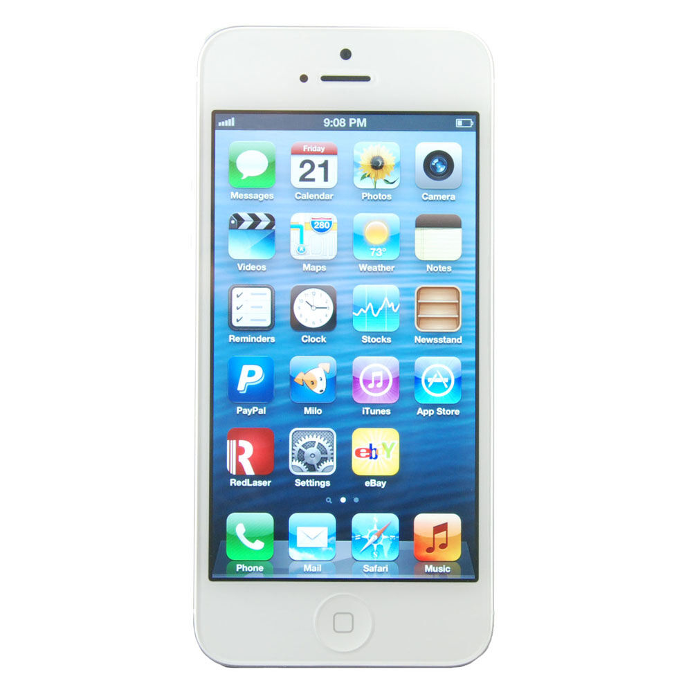 Apple iPhone 5- 64GB - White & Silver (Verizon) Smartphone ...