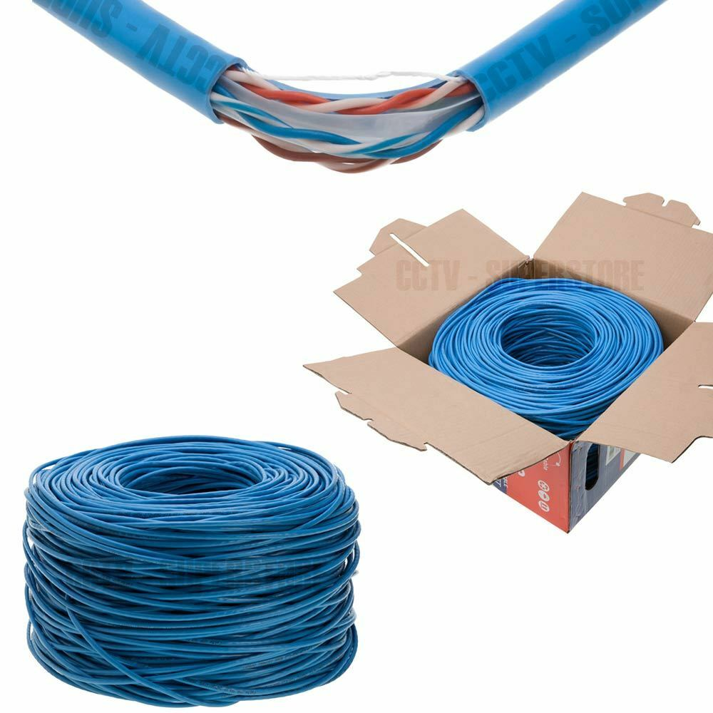 Cat5e 1000ft Utp Solid Lan Network Ethernet Cable Rj45