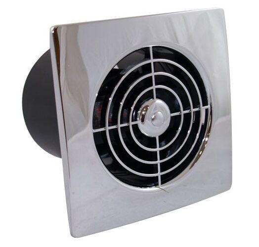 Square low profile 4 100mm chrome white timer for 6 bathroom extractor fan with timer
