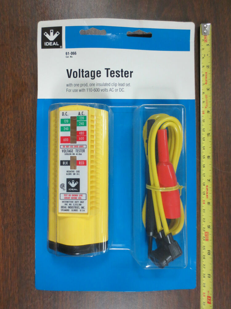 Ideal Electrical Testers : Ideal voltage tester w standard leads and