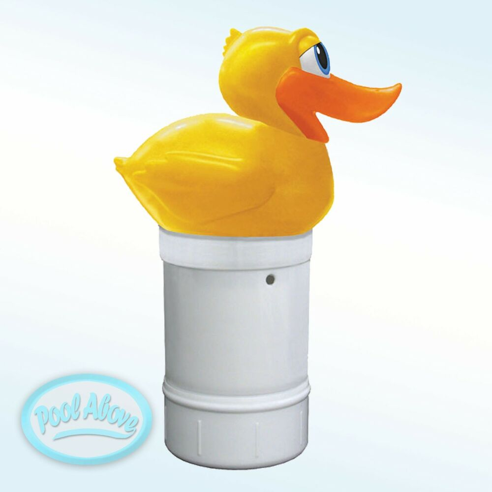Floating chlorine dispenser duck swimming pool spa chlorinator 1 5 tabs ebay for How to put chlorine in swimming pool