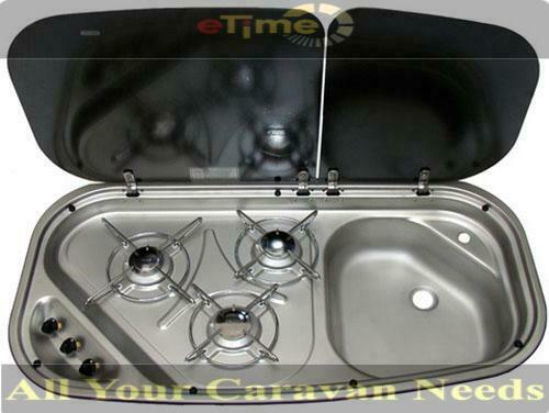 Dometic Cramer Combo 3 Burner Stove Amp Sink Glass Lid With