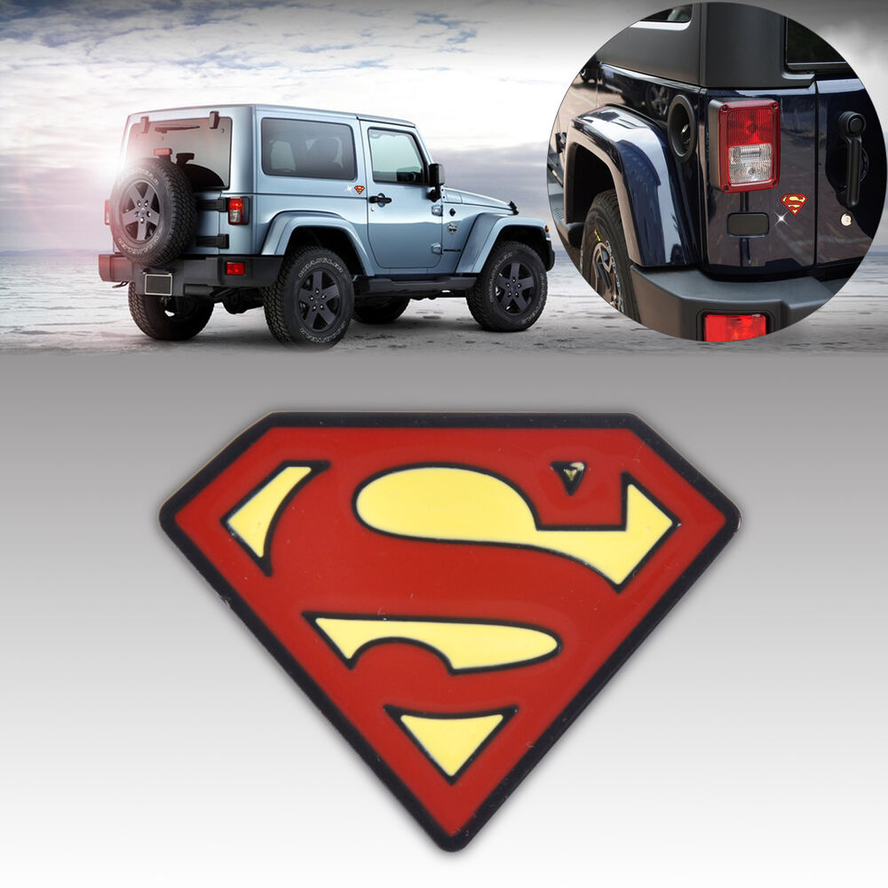 3d metall superman auto aufkleber car fenster badge emblem sticker decal suv kfz ebay. Black Bedroom Furniture Sets. Home Design Ideas