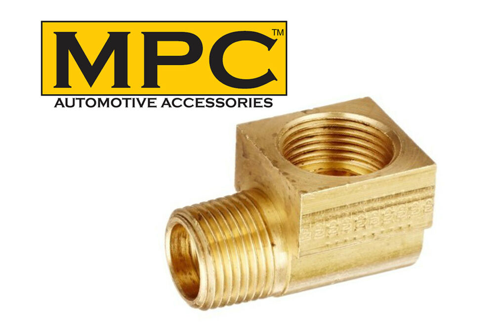Brass degree elbow connector quot male npt to