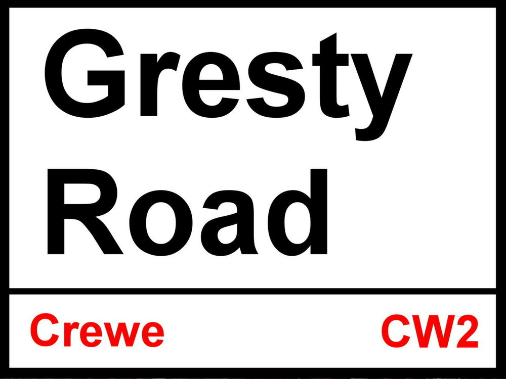 Gresty Road Street Sign Metal Aluminium Football Fc Ebay