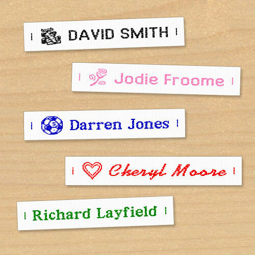 Woven Name Labels Sew In Name Tags For School Childrens