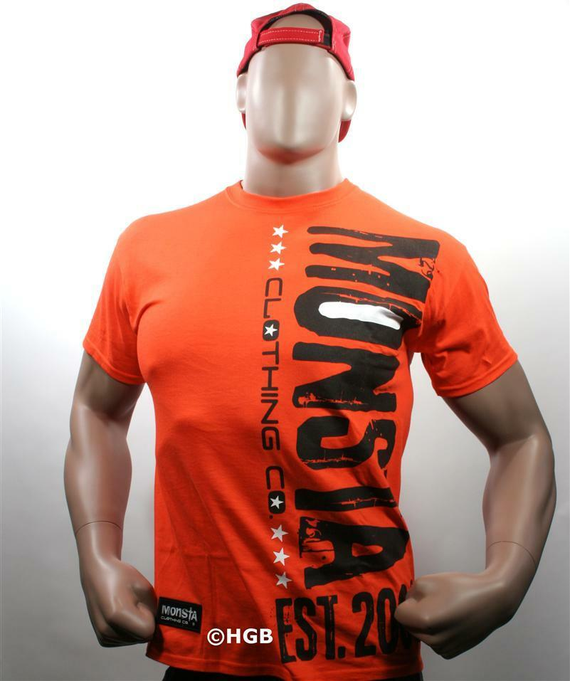 Monsta clothing graphic tee bodybuilding wear unda Fitness shirts for men
