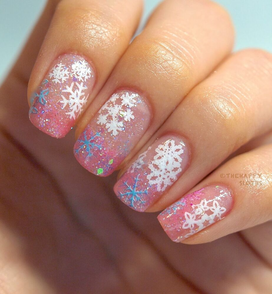 Nail Art Stickers: Christmas Snowflakes Bows Reindeer Design 3D Nail Art