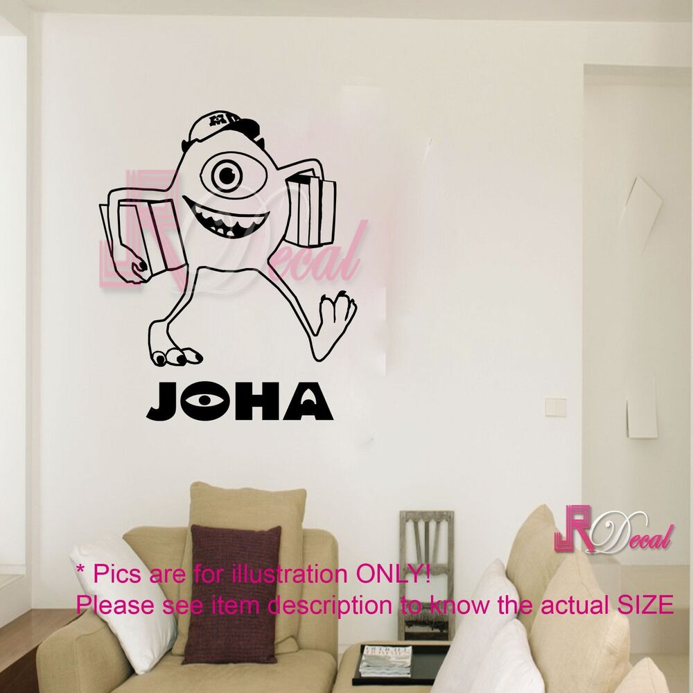 Mike Monster Inc Uni Personalised Wall Art Sticker Decal
