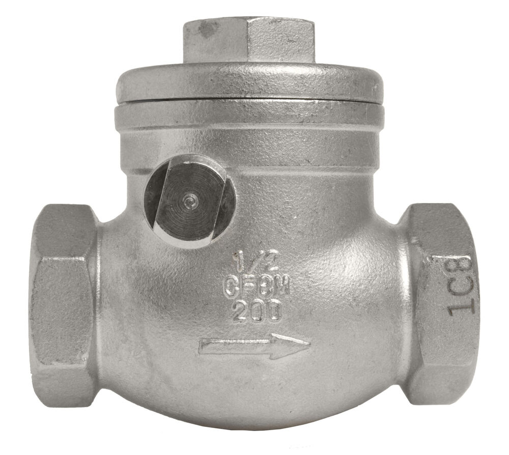 1  2 U0026quot  Stainless Steel  316  Swing Check Valve