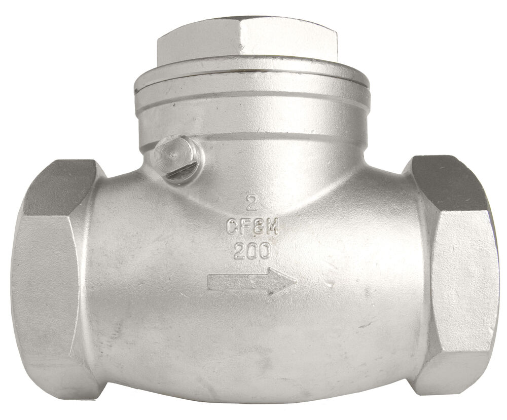Quot stainless steel swing check valve wog ebay
