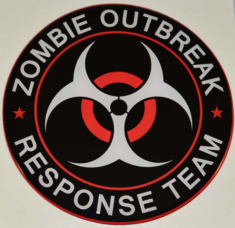 """Premium """"Zombie Outbreak"""" Gloss Dome Decal - Car Truck ..."""