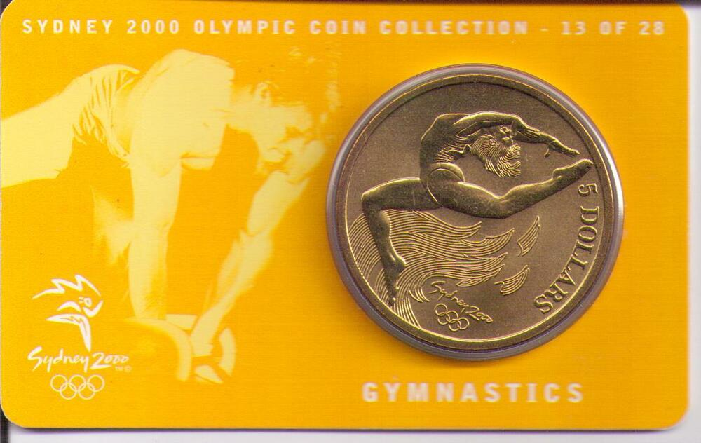 sydney 2000 olympic coin gymnastics games - photo#1