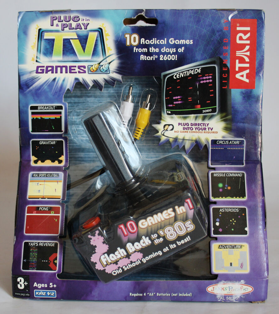 Tv Games Plug Into : Atari flash back games in plug n play video tv