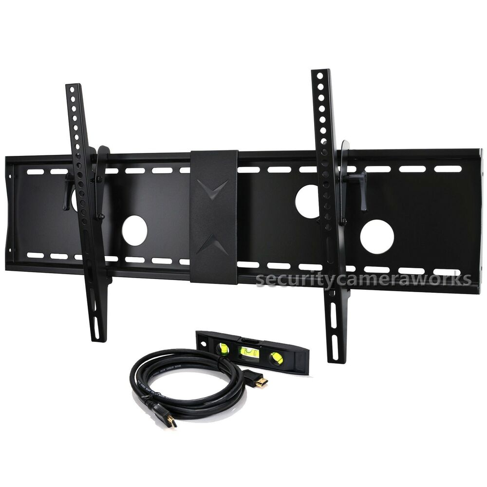 tilt wall mount for led lcd plasma tv samsung sharp aquos vizio 40 75 screen bjk ebay. Black Bedroom Furniture Sets. Home Design Ideas
