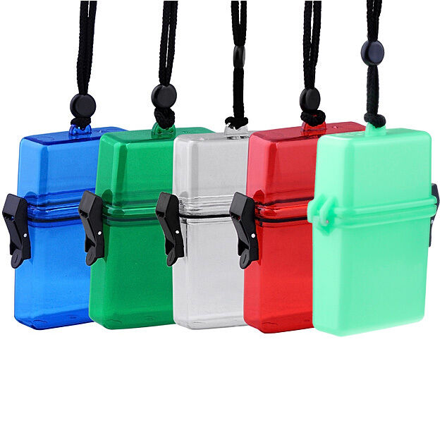 outdoor swim waterproof plastic container storage case key money box card holder ebay. Black Bedroom Furniture Sets. Home Design Ideas