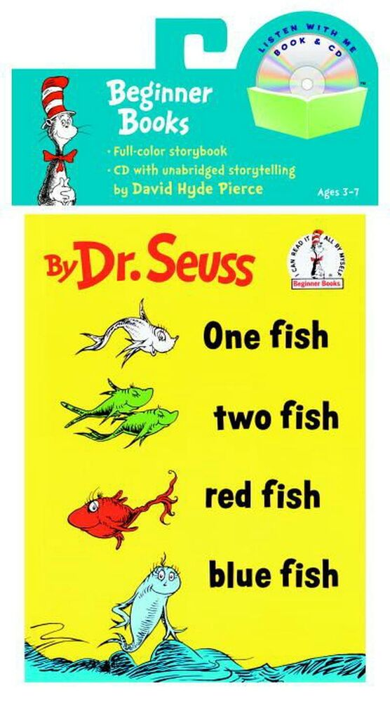 One fish two fish red fish blue fish book cd by dr for Red fish blue fish dr seuss