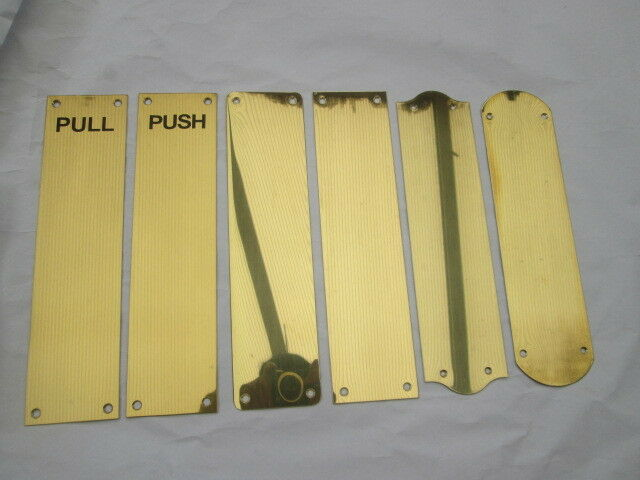 12 Quot Push Pull Polished Brass Finger Plate Door Push Pull