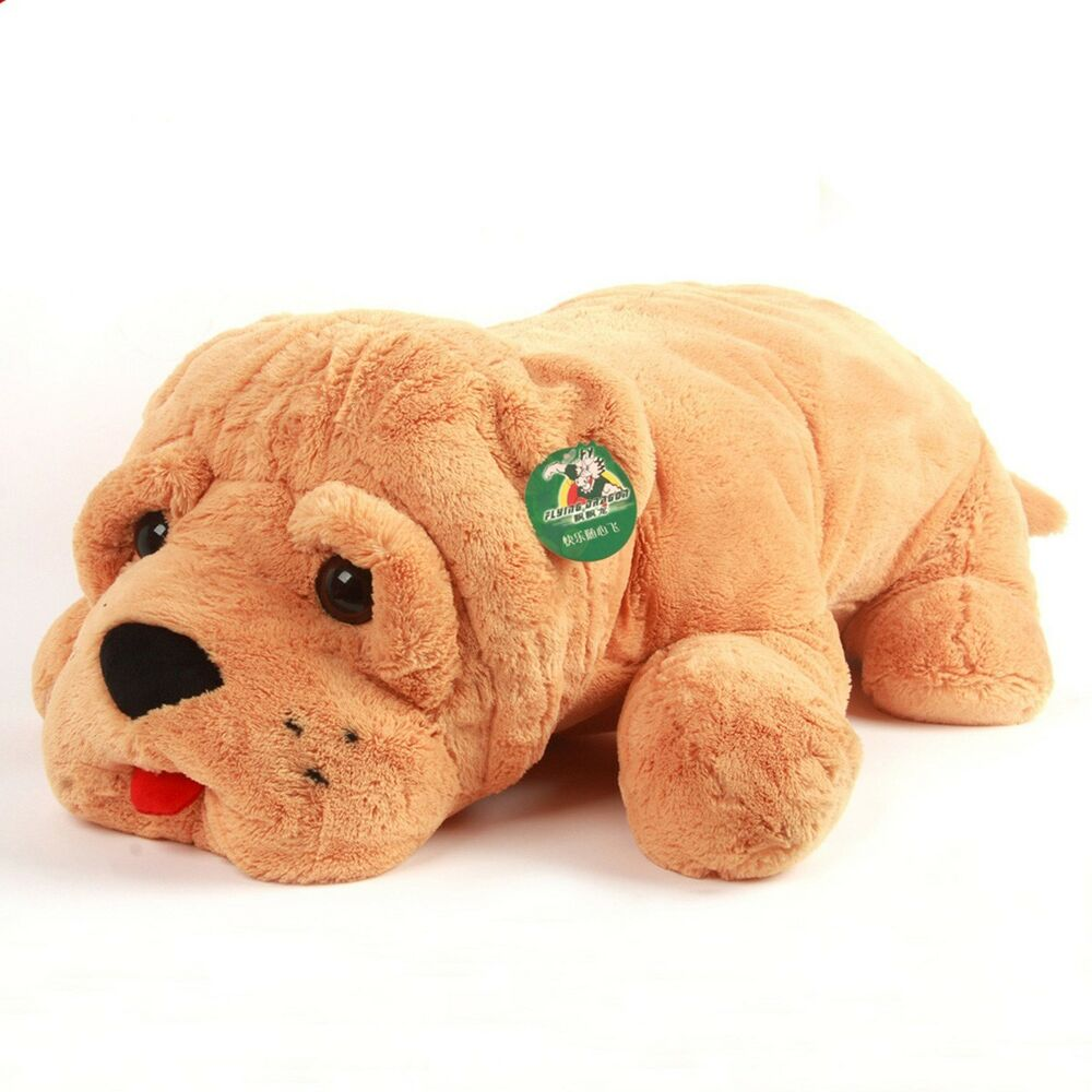 Plush Stuffed Animal Toys : Quot plush toy shar pei dog doll stuffed animal soft