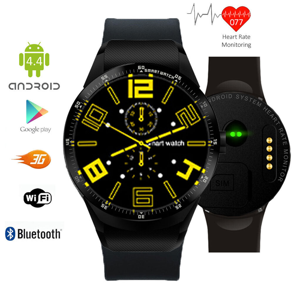 Waterproof 3G Android Smart Watch Phone WiFi Touch Screen ...