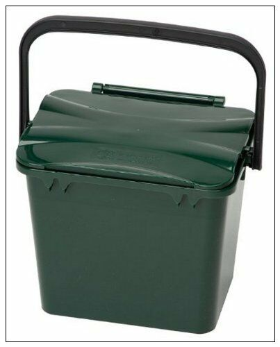 7 Litre Kitchen Compost Food Waste Caddy FREE Roll Of 10